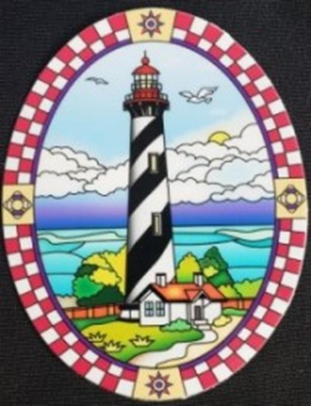 Oval Stained Glass Sticker,01502