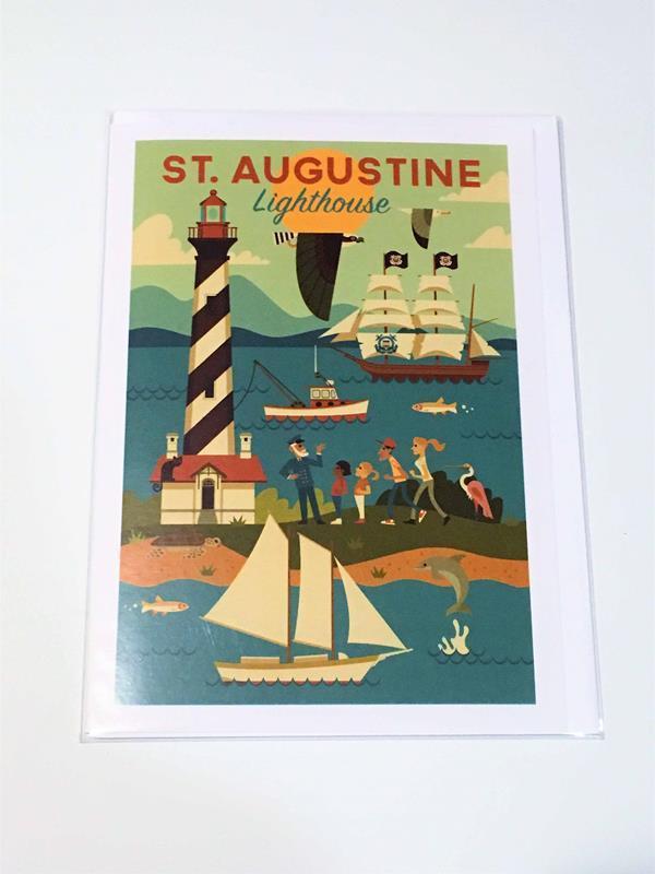 Lighthouse Geo Notecard,0659