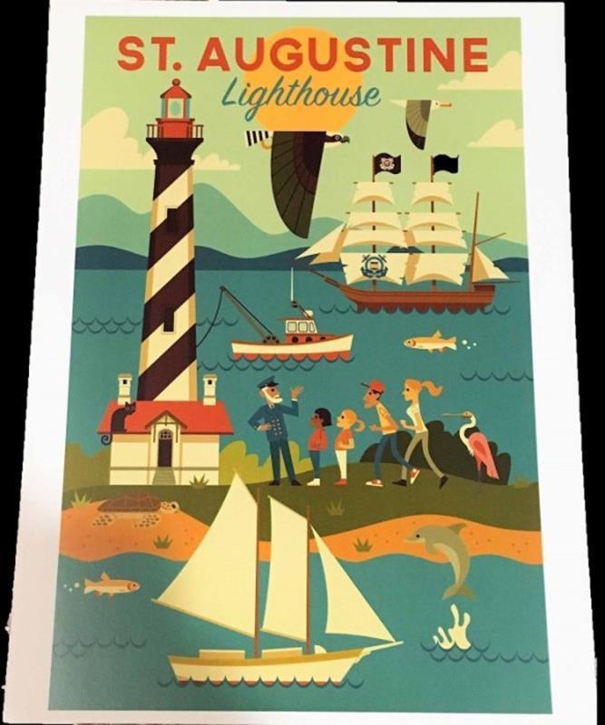 Lighthouse Geo 9X12 Print,0759