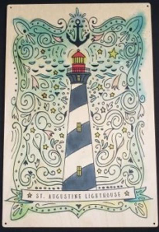 Nautical Watercolor Wood Sign