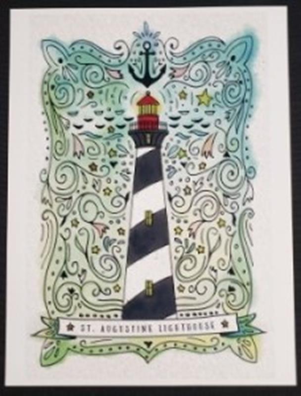 Nautical Watercolor 9 x12 Print