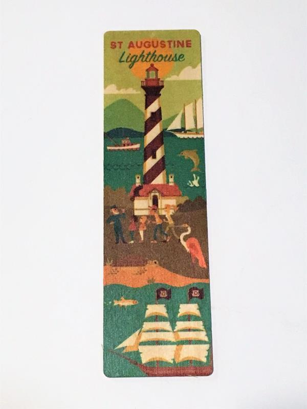 Lighthouse Geo Wooden Bookmark,36125