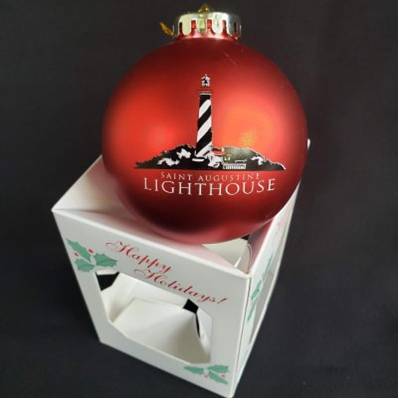 Red Ball Lighthouse Ornament