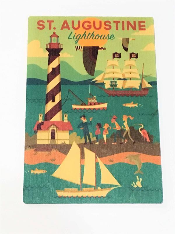 Lighthouse Geo Wooden Postcard,72135