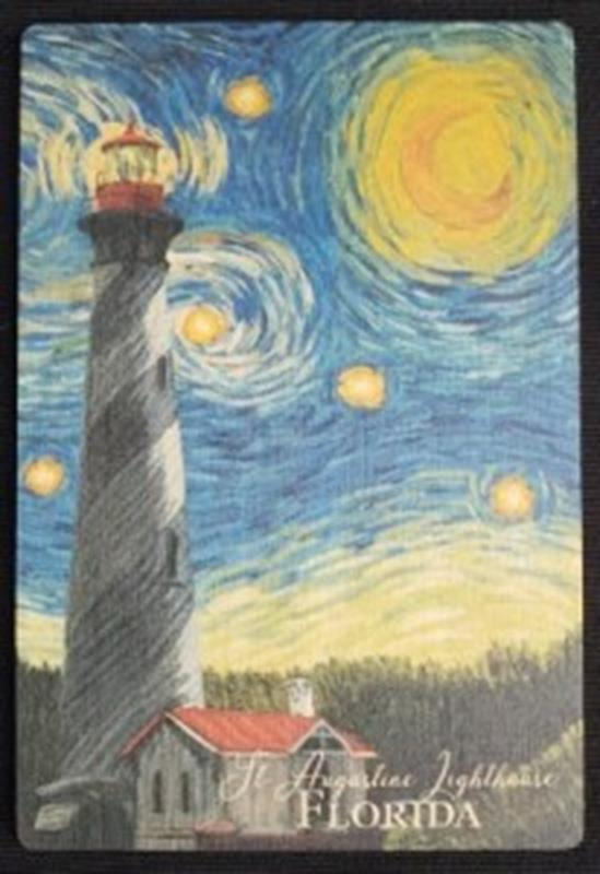 Starry Night Wood Postcard,80400