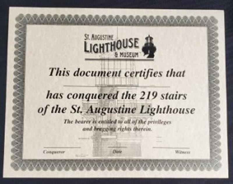 I Climbed Certificates