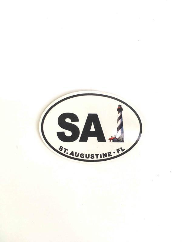 Mini Oval SA Sticker,91748